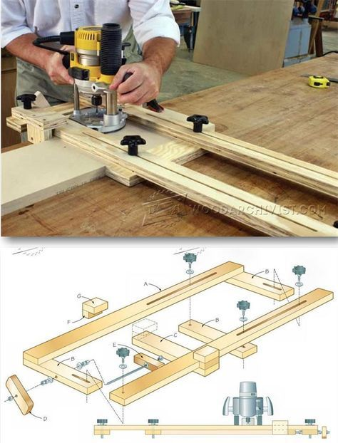 Router dado jig plans joinery tips jigs and techniques for Apartment workbench plans