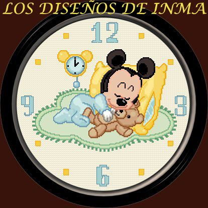 PDF Cross Stitch Pattern Watch 36 Clock Cross by NoahsDreams