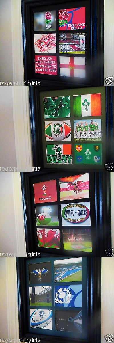 Rugby 21563: England Rugby (6 Miniature Reproduction Pictures In A Frame) -> BUY IT NOW ONLY: $48.99 on eBay!
