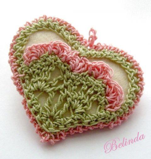 Spring - crochet pendant, Be..., meska.hu