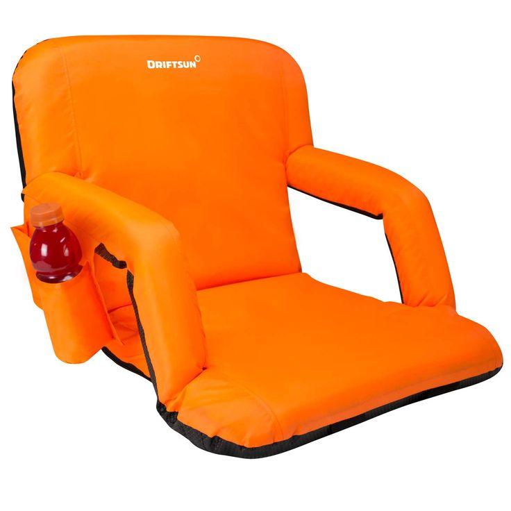 Driftsun Stadium Seat Reclining Bleacher Chair Folding with Back / Sport  Chair Reclines Perfect For Bleachers - Best 25+ Stadium Seats For Bleachers Ideas On Pinterest Retro