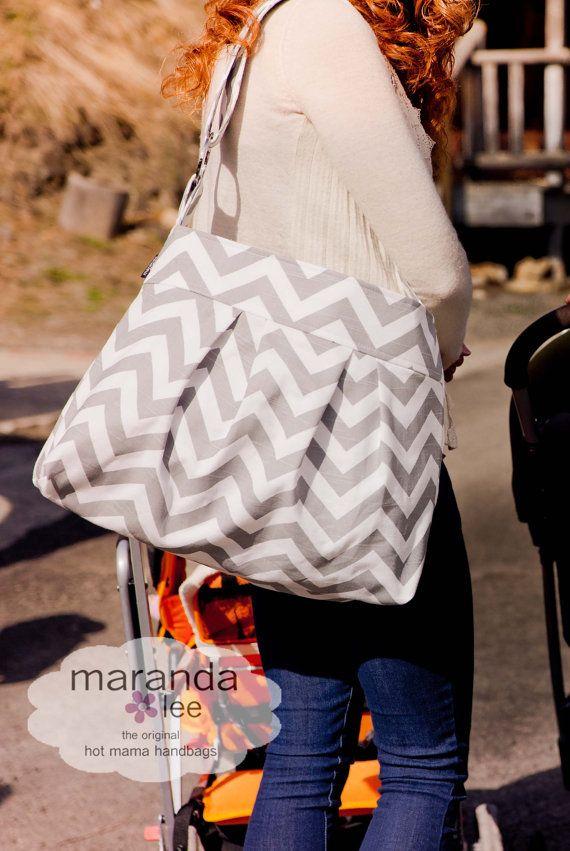 Stella Chevron Large Messenger Bag