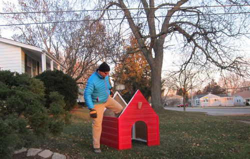 Building Snoopy's Dog House for Christmas