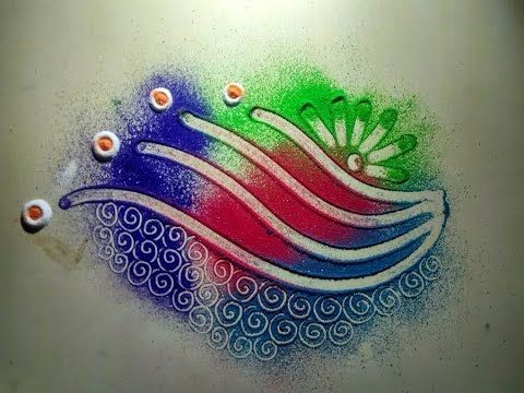 simple rangoli designs - YouTube