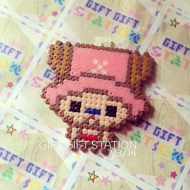 Chopper One Piece perler beads by giftgiftstation