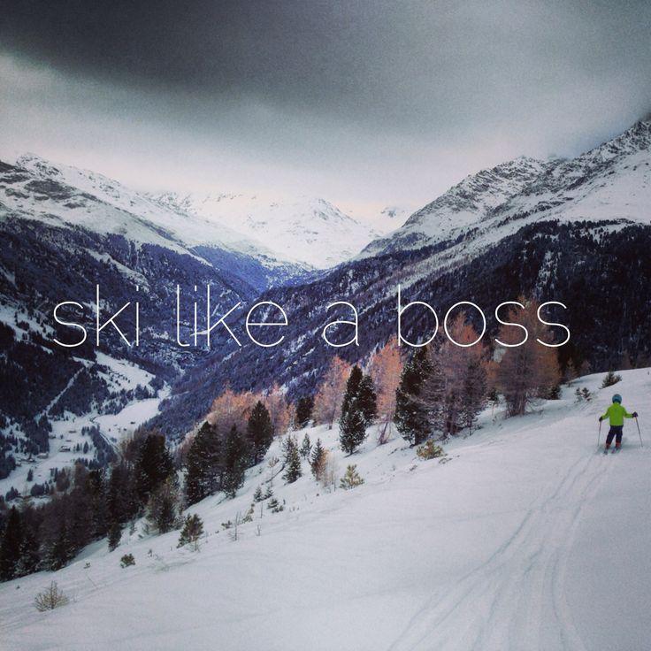 ski like a boss