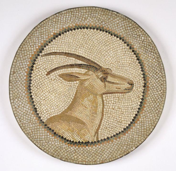 Roman Mosaic. Gazelle. Tunis, Tunisia.