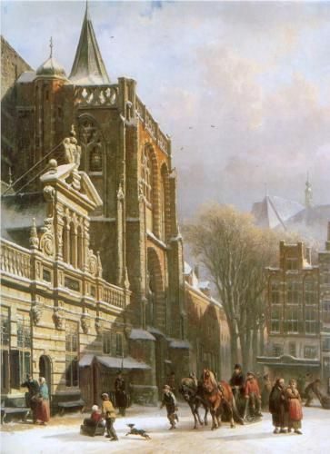 St. Michael Church in Zwolle - Cornelis Springer
