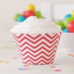 Chevron Red Cupcake Wrappers