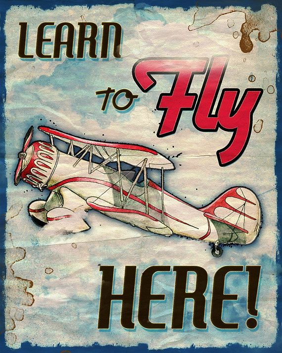 Vintage Airplane Prints - lots of cute ones in her shop!