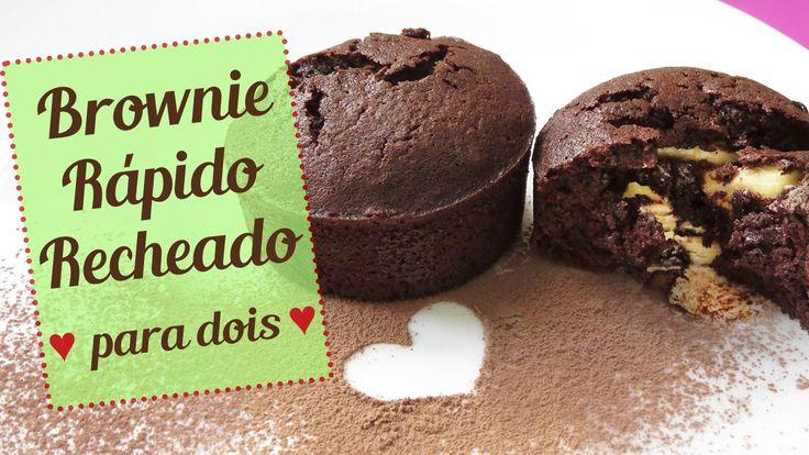 Brownie Rápido Recheado Para Dois (Especial Dia Dos Namorados)