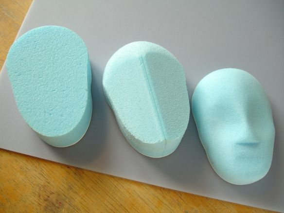 Stages in styrofoam shaping