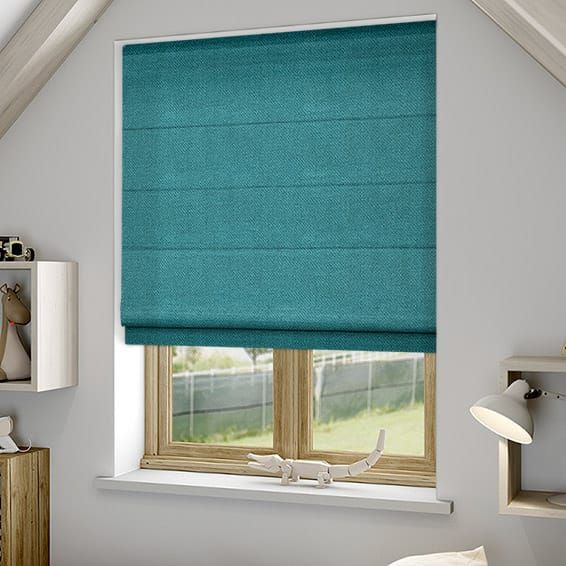 Spectrum Teal Roman Blind%20from%20Blinds%202go
