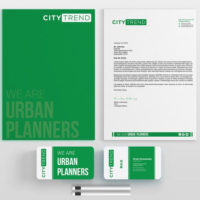 CITYTREND business card and letter head by m.r.J_44