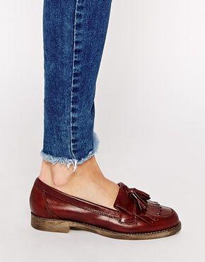 Enlarge River Island Brown Flat Tassel Loafer Shoes