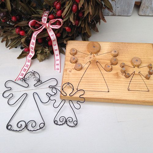 how to make your own wire christmas angel decorations