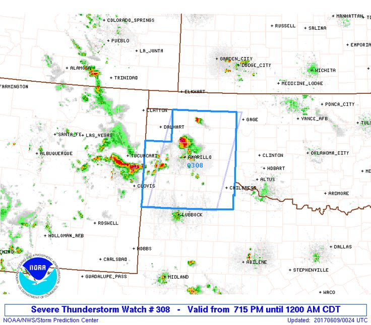 A Severe Thunderstorm WATCH has been issued until Midnight for the Texas Panhandle and portions of western Texas.  Isolated storms capable of producing large hail up to 2.5 inches and damaging winds in excess of 70mph will be possible across the region over the next several hours.  Storm...