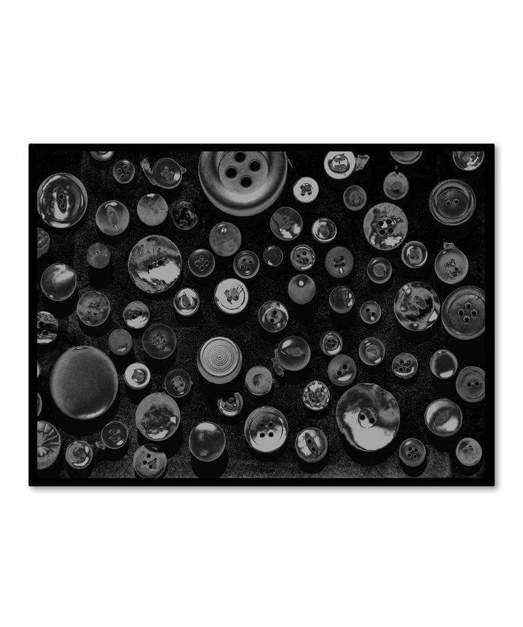 Patty Tuggle Black & White Buttons Gallery-Wrapped Canvas | zulily