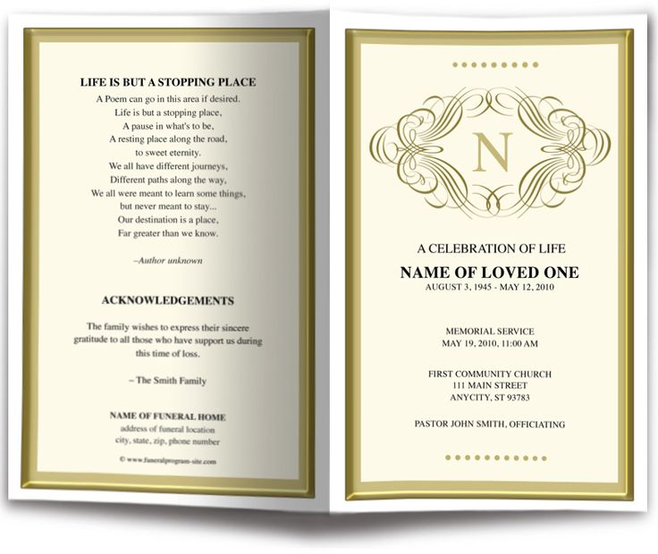The 25+ best Program template ideas on Pinterest Wedding program - funeral ceremony invitation