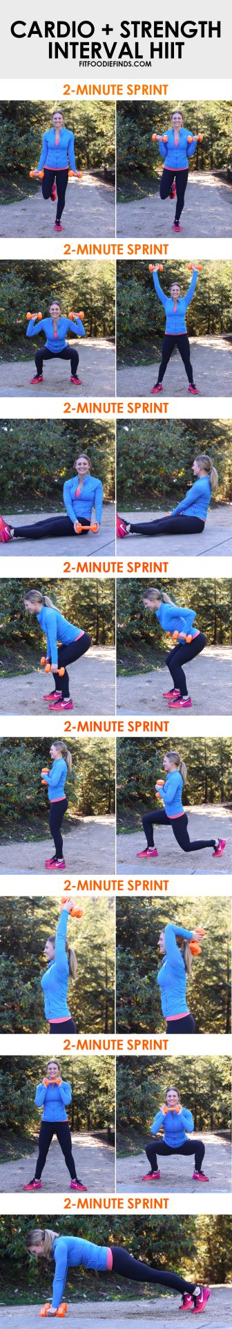 (via Cardio + Strength Interval HIIT Workout - Fit...