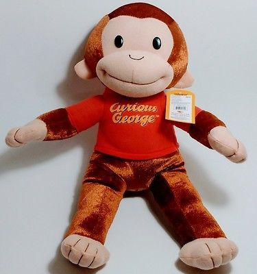 Curious George Monkey Plush Doll Toy Stuffed Animal New with Tag