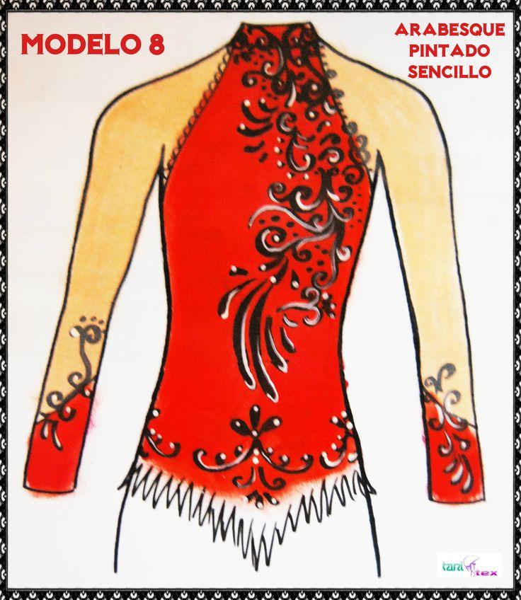 Modelo 8 - Boceto de un maillot pintado sencillo
