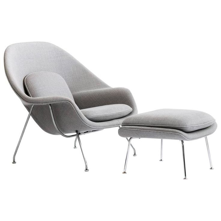 Eero Saarinen Womb Chair and Ottoman | From a unique collection of antique and modern lounge chairs at https://www.1stdibs.com/furniture/seating/lounge-chairs/