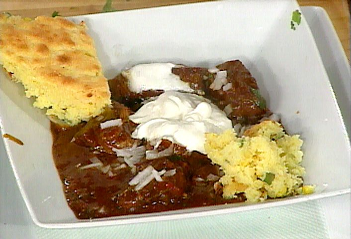 Texas Style Chili. SO good! Substitute tri-tip with ground beef