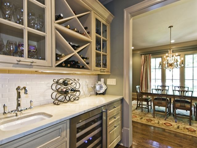 Kitchens Wet Bar Built In Wine Rack For My Future Kitchen