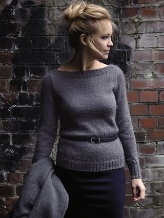SWAY SWEATER knitted in Rowan Mohair Haze from North by Kim Hargreaves - English Yarns