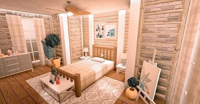 Roblox Bloxburg Aesthetic Twin Bed Tiny House Bedroom House Decorating Ideas Apartments Tiny House Layout