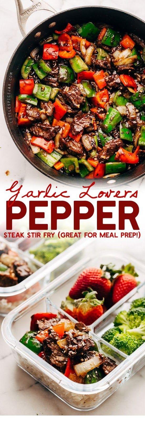 Knoblauch Liebhaber Pfeffer Steak Stir Fry | Steak Rezepte