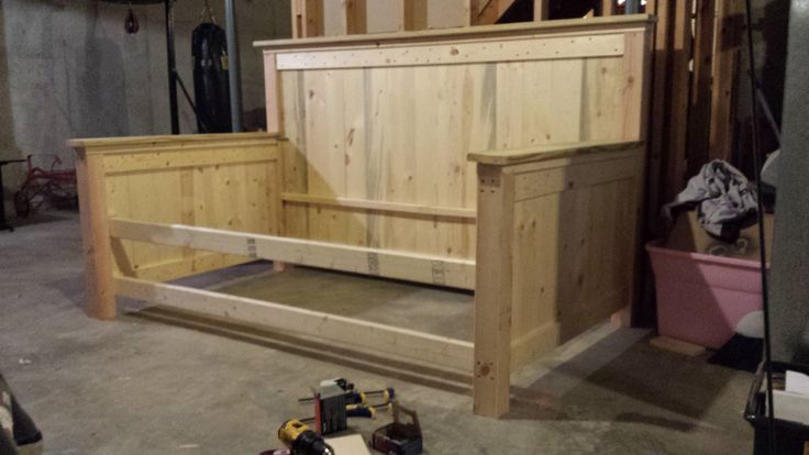 Farmhouse Daybed with Storage Drawers Twin   Do It Yourself Home Projects from Ana White