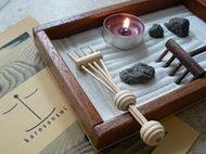 Giardino zen elegante in mogano da scrivania