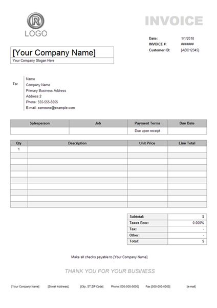 General Invoice Template Adobe Pdf ( Pdf) Microsoft Word ( Doc - general contractor invoice template