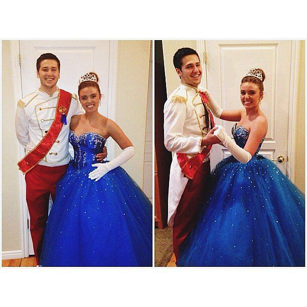 belle as gaston and jasmine as jafar classy halloween costumesideas - Prince Charming Halloween Costumes