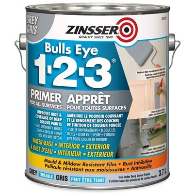 Zinsser Bulls Eye 1-2-3 3.7L Grey Primer Sealer