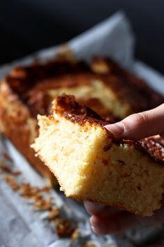 Gâteau au lait et à la semoule ultra moelleux parfumé à la vanille et au citron