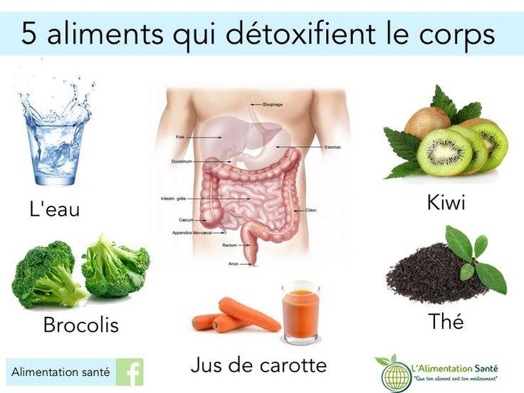 5aliments qui detoxifient le corps