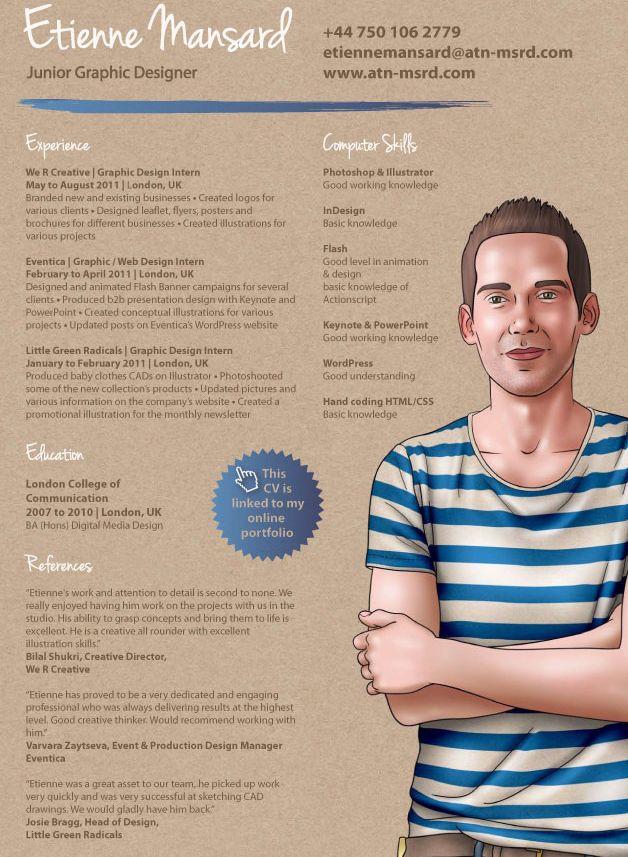 The 52 best visual cv\u0027s images on Pinterest Creative resume - powerpoint designer resume