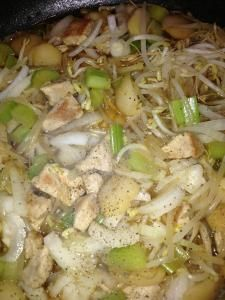 Chop Suey - my mom's recipe....can add flour to thicken sauce but this is the light version!