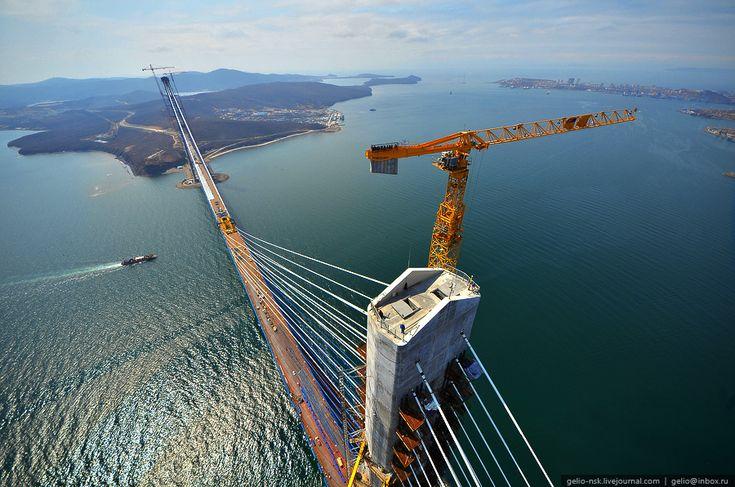 Bridge to Russky Island (Russia, Vladivostok) 28.04.2012: Connection Vladivostok, Building Bridges, Bridges Vladivostok, Bridges Connection, Russian Islands, Islands Russia, Bridges Magicst, Russkiy Islands, Russki Islands