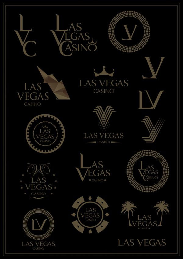 Las Vegas Casino - Logo by Volcano Design, via Behance
