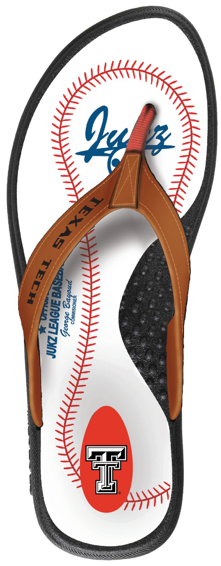 Texas Tech Red Raiders Baseball Flip Flop
