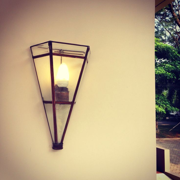 Edgy outdoor lamp | glass lamp |