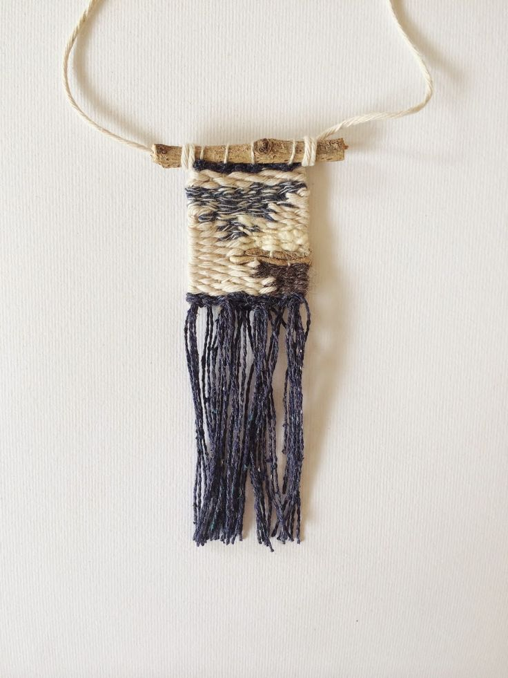 mini loom weaving workshops. woven necklace made by edward & lilly. #weaving