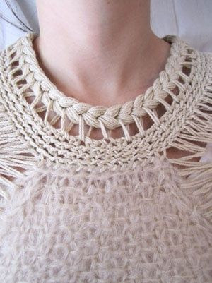Knitted sweater details, very beautiful