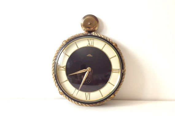Vintage Nautical Wall Clock / Solar Rope by ConstellateVintage
