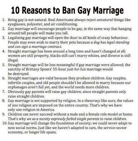 Twitter / davidshearing: 10 reasons to ban same-sex