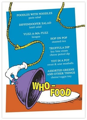 Who-Food menu dr-seuss-party